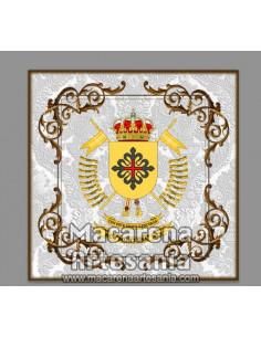 Azulejo cuadrado con escudo del Regimiento de Caballería Montesa Nº 3. Solo en venta en nuestra tienda online