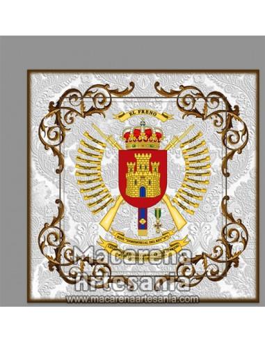 Azulejo cuadrado con escudo del Regimiento de Infantería Inmemorial del Rey n.º 1. Solo en venta en nuestra tienda online