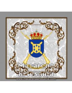 Azulejo cuadrado con escudo del Tercio Alejandro Farnesio 4º de la Legión. Solo en venta en nuestra tienda online