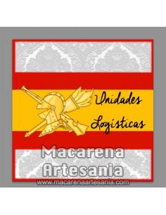 Azulejo cuadrado con emblema de las Unidades Logísticas. Solo en venta en nuestra tienda online