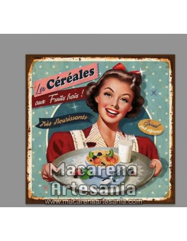Azulejo cuadrado estilo decoración vintage de cereales. Solo en venta en nuestra tienda online. Somos Fabricantes.
