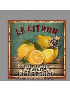 Azulejo cuadrado estilo tipo vintage Le citron de menton. Solo en venta en nuestra tienda online. Somos Fabricantes.