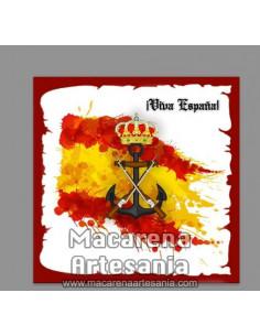 Azulejo cuadrado con Emblema de la Infanteria de Marina y Viva España. Somos Fabricantes, visitanos y te sorprenderemos.
