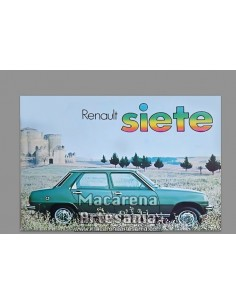 Azulejo 20x30 tipo decoración vintage del Renault 7. Solo en venta en nuestra tienda online. Somos Fabricantes.