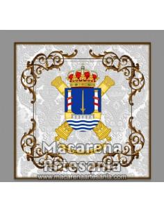 Azulejo cuadrado con Escudo...