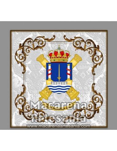 Azulejo cuadrado con Escudo del Grupo...