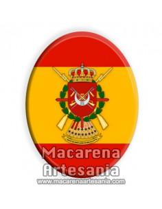 Cerámica ovalada con el emblema de Regulares y bandera española solo en venta en nuestra Tienda Online