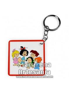 Llavero Cuadrado de la familia Telerin ¡¡vamos a la cama!!, solo en venta en nuestra tienda online.