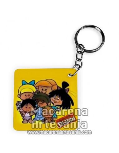 Llavero Cuadrado con la familia Telerin ¡¡vamos a la cama!!, solo en venta en nuestra tienda online.