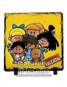 Pizarra cuadrada de la Familia Telerín ¡¡Vamos a la cama!!, solo en venta en nuestra tienda online.