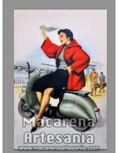 Azulejo 20x30 tipo decoración con publicidad antigua de vespa vintage. Solo en venta en nuestra tienda online.
