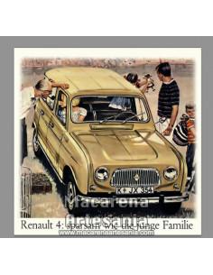 Azulejo cuadrado tipo decoración vintage del Renault 4. Solo en venta en nuestra tienda online. Somos Fabricantes.