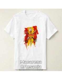 Camiseta con emblema de la Legión y bandera de España disponible solamente en nuestra tienda online. Somos fabricantes.