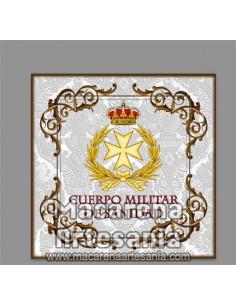 Azulejo cuadrado con emblema del Cuerpo Militar de Sanidad, solo en venta en nuestra tienda online.