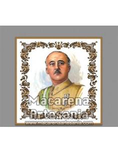 Azulejo cuadrado con imagen de Francisco Franco, solo en venta en nuestra tienda online.