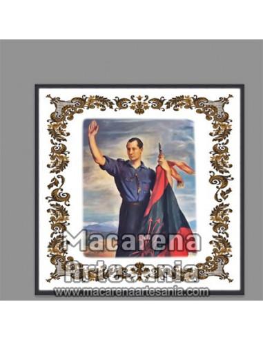 Azulejo cuadrado con imagen de José Antonio Primo de Rivera, solo en venta en nuestra tienda online.