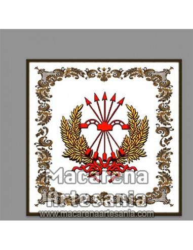 Azulejo cuadrado con emblema del El yugo y las flechas - Falange, solo en venta en nuestra tienda online.