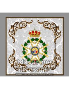 Azulejo de Venera de la Real y Militar Orden de San Fernando. Solo disponible en nuestra tienda online.