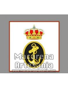 Azulejo cuadrado con el emblema de la Armada Española. Solo disponible en nuestra tienda online.