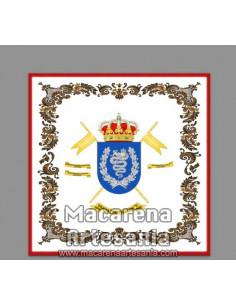 Azulejo cuadrado con el emblema de la Brigada de Caballeria Castillejos II. Solo disponible en nuestra tienda online.