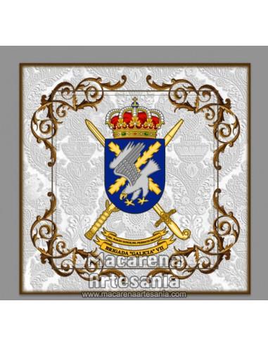 Azulejo cuadrado con Escudo de la Brigada Galicia VII, BOP VII. Solo disponible en nuestra tienda online.
