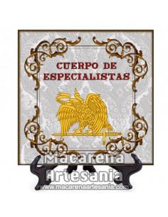 Azulejo cuadrado con el emblema del Cuerpo de Especialistas. Solo disponible en nuestra tienda online.