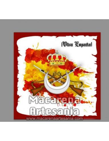 Azulejo cuadrado con emblema de los...