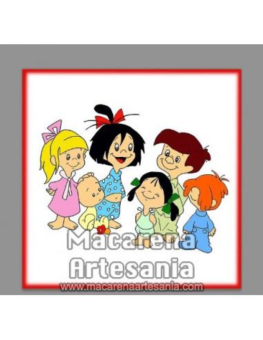 Azulejo vintage cuadrado de la Familia Telerín ¡¡Vamos a la cama!!, solo en venta en nuestra tienda online.