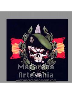 Azulejo cuadrado con emblema de los Grupos de Operaciones Especiales. Solo en venta en nuestra tienda online