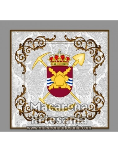 Azulejo cuadrado con el Escudo del Mando de Ingenieros. Solo disponible en nuestra tienda online.