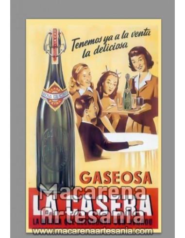 Azulejo rectangular tipo decoración vintage de Publicidad de bebida Gaseosa La Casera. Solo en venta en nuestra tienda online.
