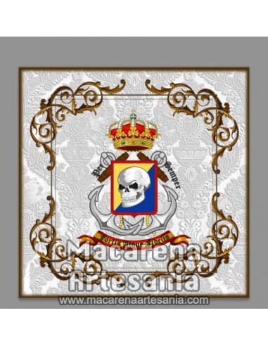 Azulejo cuadrado con emblema de la Brigada de Infantería de Marina (BRIMAR) Solo disponible en nuestra tienda online.