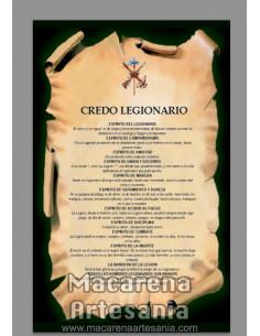 Azulejo rectangular con el credo Legionario.En venta solo en nuestra tienda online.