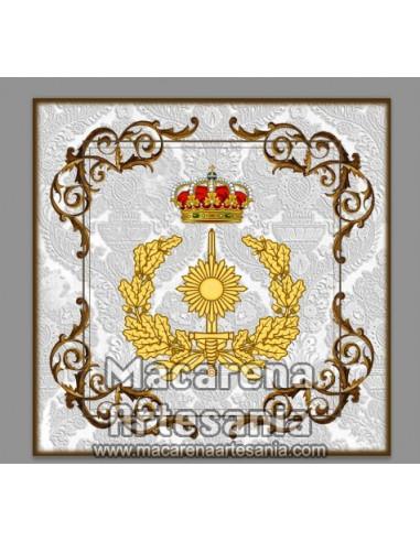 Azulejo cuadrado con emblema del Cuerpo Militar de Intervención. Solo disponible en nuestra tienda online.