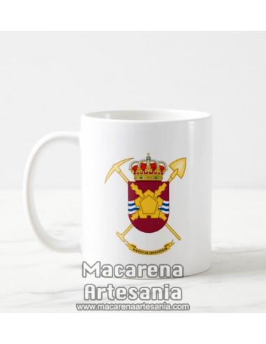 Taza de cerámica con escudo del Mando de Ingenieros del Ejercito Español. Solo en venta en nuestra tienda online