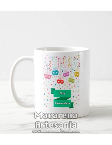 Taza de cerámica Soy Carnvalero - Regalos de Carnaval-