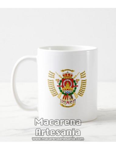 Taza de cerámica con escudo del Regimiento de Infantería Ligera Soria nº 9 (RIL-9). Solo en venta en nuestra tienda online
