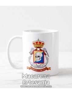 Taza de cerámica con emblema de la Brigada de Infantería de Marina (BRIMAR). Solo en venta en nuestra tienda online
