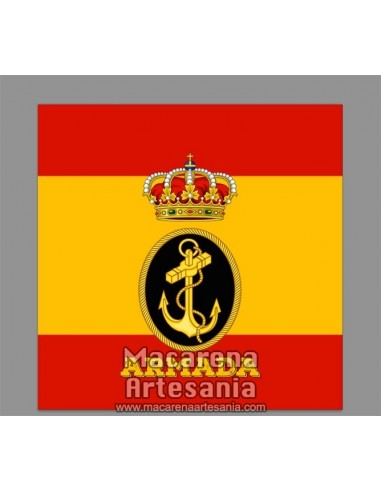 Azulejo cuadrado con el emblema de la Armada Española y bandera. Solo disponible en nuestra tienda online.