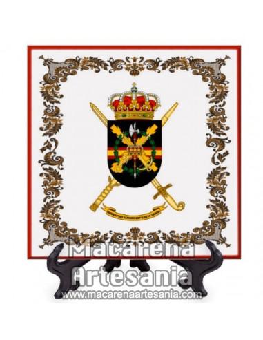 Azulejo cuadrado de la Brigada «Rey Alfonso XIII» II de La Legión. Solo disponible en nuestra tienda online.