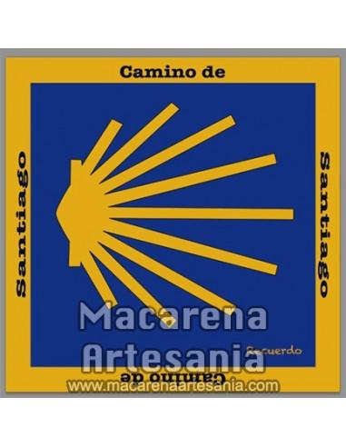 Azulejo cuadrado de recuerdo del camino santiago, solo en venta en nuestra tienda online.