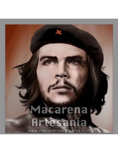 Azulejo cuadrado del Che Guevara, solo en venta en nuestra tienda online.