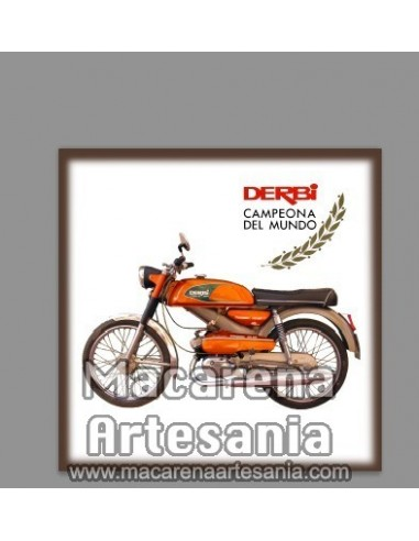 Azulejo cuadrado estilo vintage de Derbi Antorcha, en venta en nuestra tienda online.