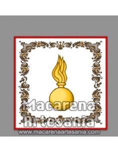 Azulejo cuadrado con el emblema de la Artilleria Española. Solo en venta en nuestra tienda online