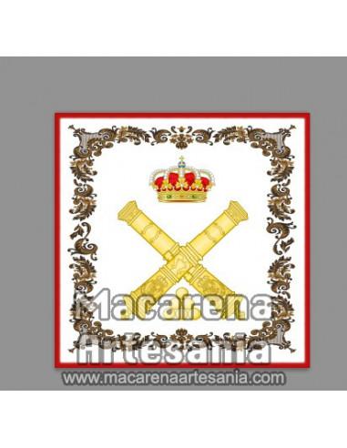 Azulejo cuadrado con emblema de la Artilleria Española. Solo en venta en nuestra tienda online