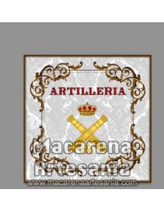 Azulejo cuadrado con el emblema de la Artilleria Española Ornamentado. Solo en venta en nuestra tienda online