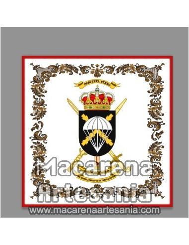 Azulejo cuadrado con escudo de la Brigada Almogávares VI de Paracaidistas, BOP VI. Solo disponible en nuestra tienda online.