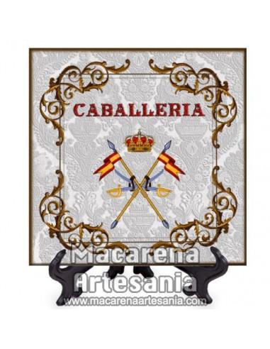 Azulejo cuadrado con el emblema de la Caballeria Española MOD.2. Solo en venta en nuestra tienda online