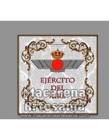 Azulejo cuadrado con el emblema del Ejército del Aire. Solo en venta en nuestra tienda online