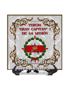 Azulejo cuadrado con el emblema del tercio Gran Capitan 1 de la Legión. Solo en venta en nuestra tienda